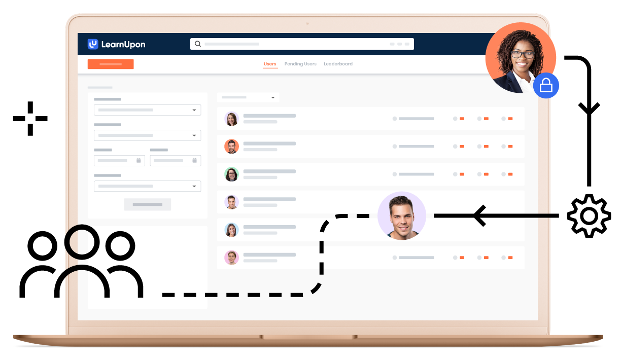 LearnUpon feature user management main graphic