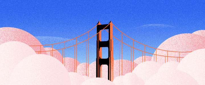 elearning challenges - graphic shows a bridge over clouds