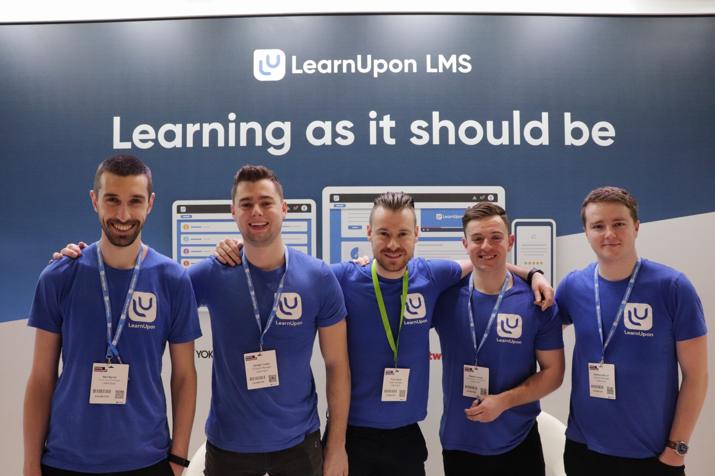 LearnUpon team at Learning Technologies 2019