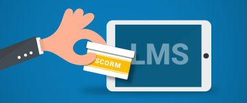 SCORM content in learning management system
