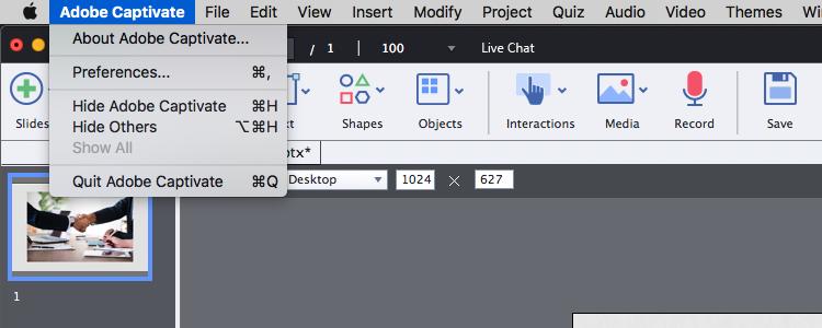 Adobe captivate SCORM preferences