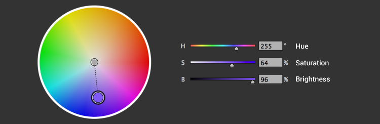 Use the color wheel to design your eLearning content