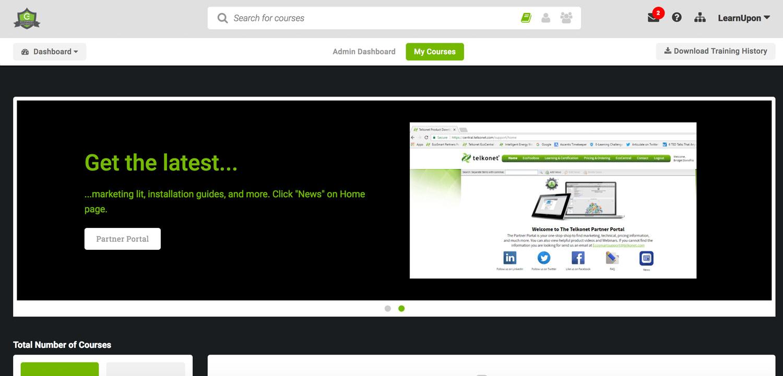 Learner dashboard screenshot from Telkonet's EcoSmart University