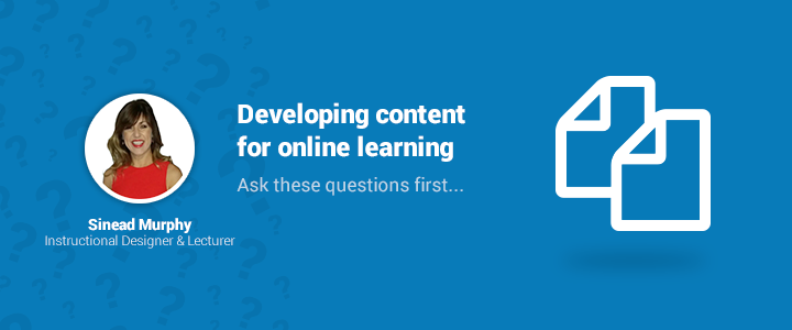 Developing online learning content